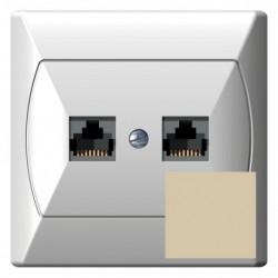 AKCENT Gniazdo komputerowe, podwójne, kat. 5e, MMC, kolor beżowy GPK-2A/K/01