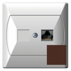 AKCENT Gniazdo komputerowe, pojedyncze, kat. 5e, MMC, kolor brązowy GPK-1A/K/24