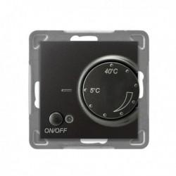 IMPRESJA Regulator temperatury, bez ramki, kolor antracyt z czujnikiem podpodłogowym RTP-1Y/m/50