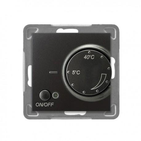 IMPRESJA Regulator temperatury, bez ramki, kolor antracyt z czujnikiem napowietrznym RTP-1YN/m/50
