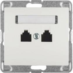 SIGMA Gniazdo telefoniczne RJ11 podwójne niezależne bez ramki, kolor biały GPT-2DN/M.BI
