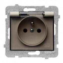 SIGMA Gniazdo bryzgoszczelne z uziemieniem IP44 bez ramki kolor beżowy GPH-1DZ/M.JB