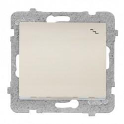 SIGMA Łącznik schodowy z podświetleniem bez ramki, kolor beżowy ŁP-3DS/M.JB