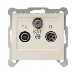 SIGMA Gniazdo antenowe R-TV-SAT końcowe bez ramki, kolor beżowy GPA-DS/M.JB