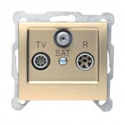 SIGMA Gniazdo antenowe R-TV-SAT końcowe bez ramki, kolor satyna GPA-DS/M.ST