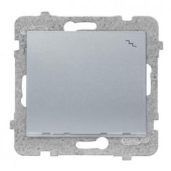 SIGMA Łącznik schodowy z podświetleniem bez ramki, kolor srebrny ŁP-3DS/M.SR