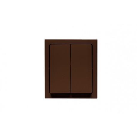 BRAVO Łącznik podwójny (świecznikowy) IP54, kolor brązowy łnh-2b.br