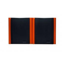 BRAVO Gniazdo podwójne z uziemieniem IP54, kolor pomarańczowy gnh-2bz.pm