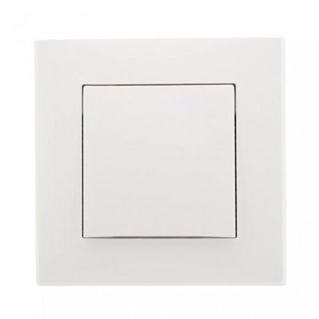 MILANO  Łącznik pojedynczy (jednobiegunowy), kolor biały ŁP-1L.BI