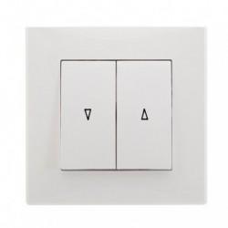 MILANO  Przycisk żaluzjowy, kolor biały ŁP-7L.BI