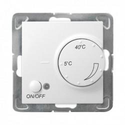 IMPRESJA Regulator temperatury, bez ramki, kolor biały z czujnikiem podpodłogowym RTP-1Y/m/00