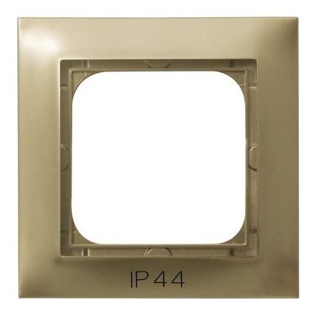 IMPRESJA Ramka pojedyncza do IMPRESJA Łączników IP44, złoty metalik RH-1Y/28
