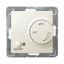 IMPRESJA Regulator temperatury, bez ramki, kolor ecru z czujnikiem podpodłogowym RTP-1Y/m/27