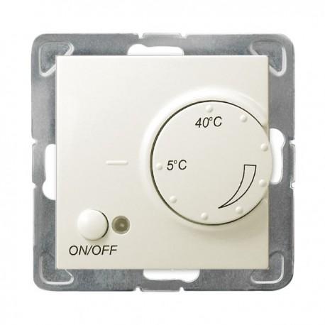 IMPRESJA Regulator temperatury, bez ramki, kolor ecru z czujnikiem napowietrznym RTP-1YN/m/27