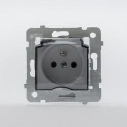 ROSA Gniazdo bryzgoszczelne z uziemieniem IP44 bez ramki kolor ecru GPH-1QZ/M.EC