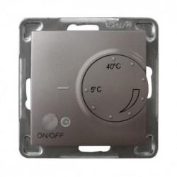 IMPRESJA Regulator temperatury, bez ramki, kolor tytan z czujnikiem podpodłogowym RTP-1Y/m/23