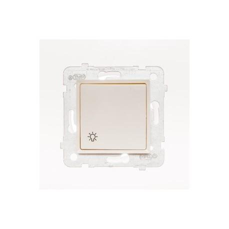 ROSA Przycisk światło bez ramki, kolor ecru ŁP-5Q/M.EC