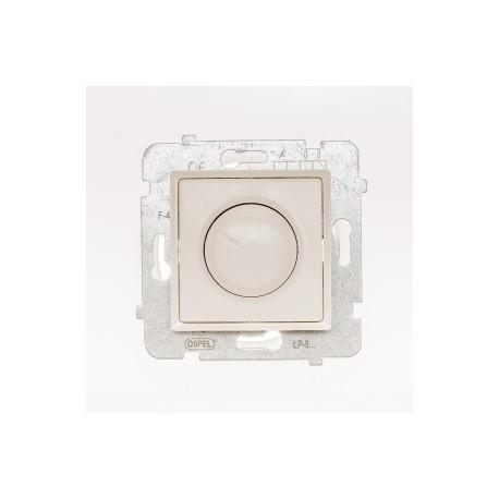 ROSA Ściemniacz przyciskowo-obrotowy bez ramki, kolor ecru ŁP-8Q/M.EC