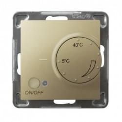IMPRESJA Regulator temperatury, bez ramki, kolor złoty metalik z czujnikiem napowietrznym RTP-1YN/m/28