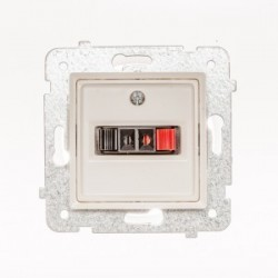 ROSA Gniazdo głośnikowe pojedyncze bez ramki, kolor ecru GG-1Q/M.EC