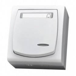 MADERA Łącznik zwierny -dzwonek-, z podświetleniem, IP-44, kolor biały ŁNH-6NS/00
