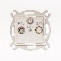 ROSA Gniazdo antenowe RTV-SAT-SAT końcowe bez ramki, kolor ecru GPA-Q2S/M.EC
