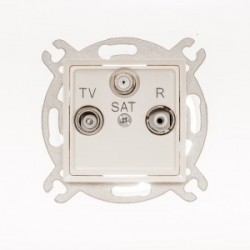 ROSA Gniazdo antenowe R-TV-SAT końcowe bez ramki, kolor ecru GPA-QS/M.EC