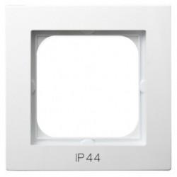 AS Ramka pojedyncza, do łączników IP-44, kolor biały RH-1G/00