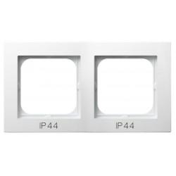 AS Ramka podwójna, do łączników IP-44, kolor biały RH-2G/00