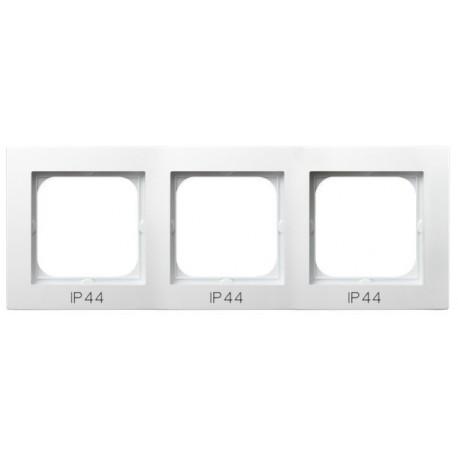 AS Ramka potrójna, do łączników IP-44, kolor biały RH-3G/00