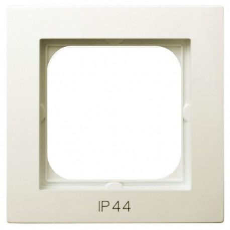 AS Ramka pojedyncza, do łączników IP-44, kolor ecru RH-1G/27