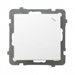 AS Łącznik schodowy, bez ramki, kolor biały ŁP-3G/m/00