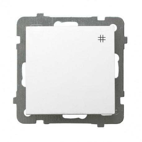 AS Łącznik krzyżowy, bez ramki, kolor biały ŁP-4G/m/00
