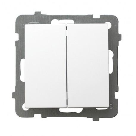 AS Łącznik podwójny, schodowy, bez ramki, kolor biały ŁP-10G/m/00