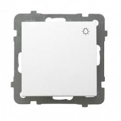 AS Łącznik zwierny -światło-, bez ramki, kolor biały ŁP-5G/m/00