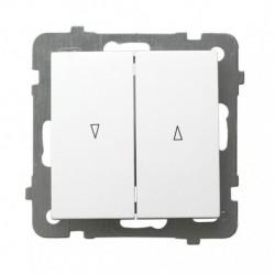 AS Łącznik żaluzjowy, bez ramki, kolor biały ŁP-7G/m/00