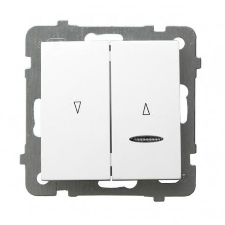AS Łącznik żaluzjowy, z podświetleniem, bez ramki, kolor biały ŁP-7GS/m/00
