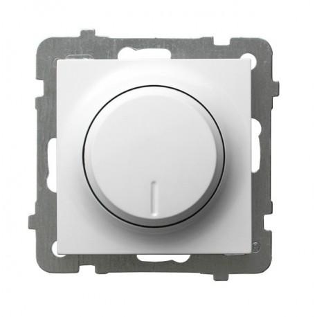 AS Ściemniacz przyciskowo-obrotowy, do obciążenia żarowego i halogenowego, bez ramki, kolor biały ŁP-8G/m/00