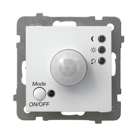 AS Elektroniczny czujnik ruchu, bez ramki, kolor biały ŁP-16G/m/00