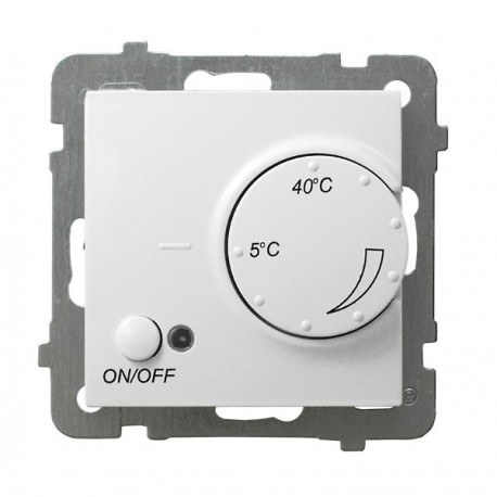 AS Regulator temperatury, bez ramki, kolor biały z czujnikiem podpodłogowym RTP-1G/m/00