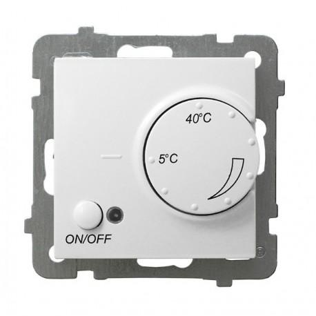 AS Regulator temperatury, bez ramki, kolor biały z czujnikiem napowietrznym RTP-1GN/m/00