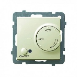 AS Regulator temperatury, bez ramki, kolor ecru z czujnikiem podpodłogowym RTP-1G/m/27
