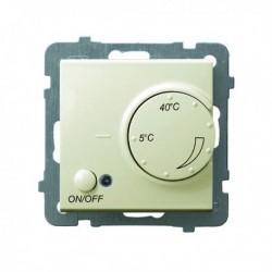 AS Regulator temperatury, bez ramki, kolor biały z czujnikiem napowietrznym RTP-1GN/m/27