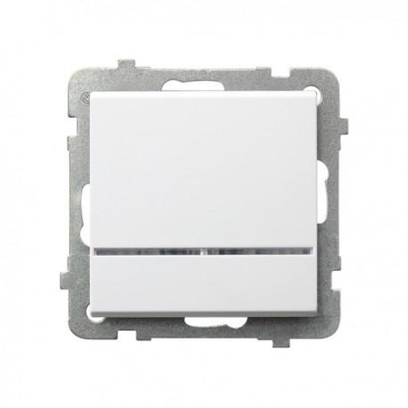 SONATA Łącznik kontrolny, z podświetleniem, bez ramki, kolor biały ŁP-12RS/m/00